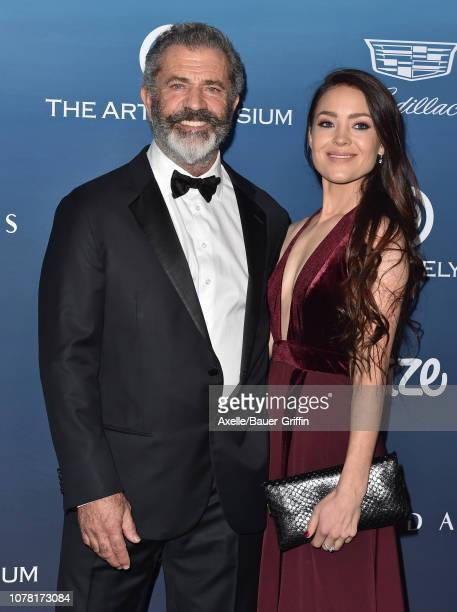 Mel Gibson and Rosalind Ross attend The Art of Elysium's 12th Annual Celebration Heaven on January 5 2019 in Los Angeles California