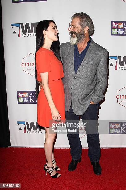 Mel Gibson and Rosalind Ross attend the World Poker Tournament Presents Four Kings And An Ace at CITIZEN on October 21 2016 in Beverly Hills...