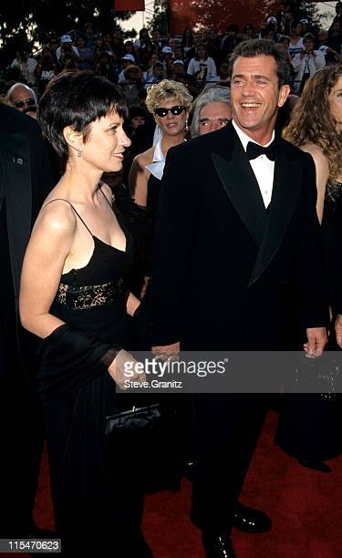 Mel Gibson and wife Robyn Gibson during The 69th Annual Academy Awards Arrivals at Shrine Auditorium in Los Angeles California United States