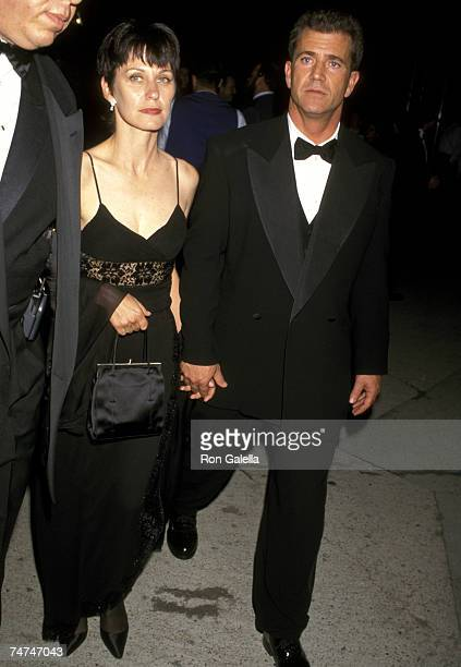 Mel Gibson and Wife Robyn Moore at the Morton's Restaurant in West Hollywood California
