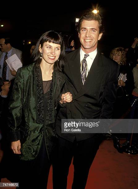 Mel Gibson and Wife Robyn Moore at the Village Theater in Westwood California