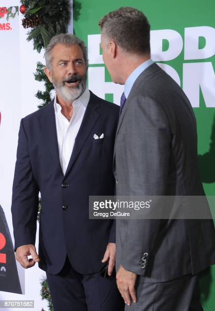 Mel Gibson and Will Ferrell arrive at the premiere of Paramount Pictures' 'Daddy's Home 2' at Regency Village Theatre on November 5 2017 in Westwood...