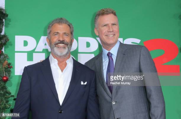 Mel Gibson and Will Ferrell attend the Los Angeles Premiere of 'Daddy's Home 2' at Regency Village Theatre on November 5 2017 in Westwood California