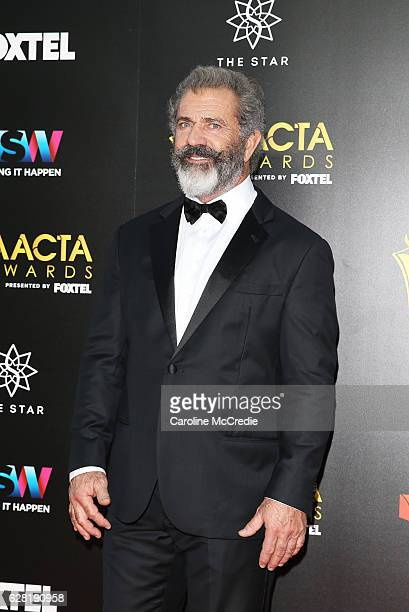 Mel Gibson arrives ahead of the 6th AACTA Awards Presented by Foxtel at The Star on December 7 2016 in Sydney Australia