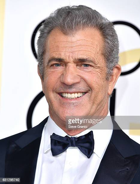 Mel Gibson arrives at the 74th Annual Golden Globe Awards at The Beverly Hilton Hotel on January 8 2017 in Beverly Hills California