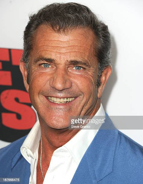 "Mel Gibson arrives at the ""Machete Kills"" - Los Angeles Premiere at Regal Cinemas L.A. Live on October 2, 2013 in Los Angeles, California."