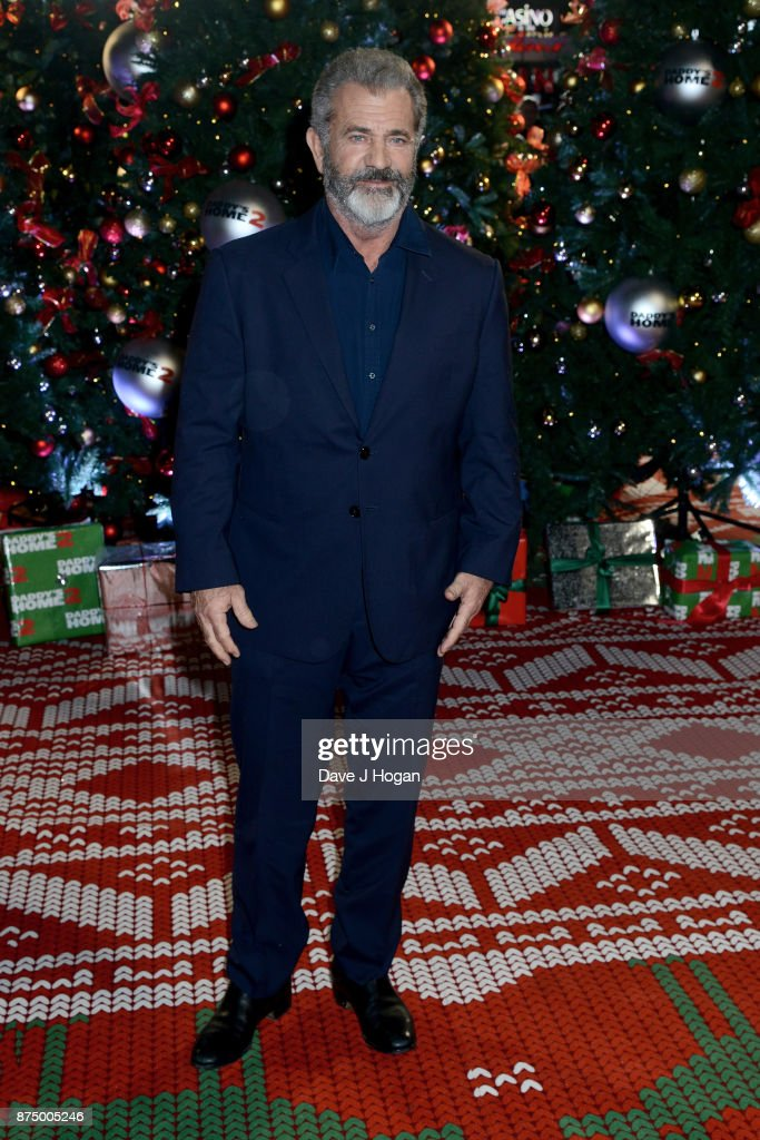 Mel Gibson arrives at the UK Premiere of 'Daddy's Home 2' at Vue West End on November 16, 2017 in London, England.