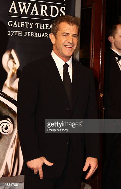 Mel Gibson arrives for the Irish Film Television Awards at Gaiety Theatre on February 17 2008 in Dublin Ireland