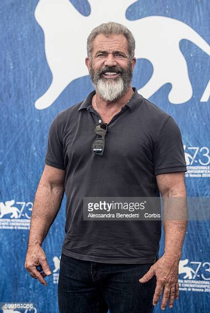 Mel Gibson attends a photocall for 'Hacksaw Ridge' during the 73rd Venice Film Festival on September 4, 2016 in Venice, Italy.