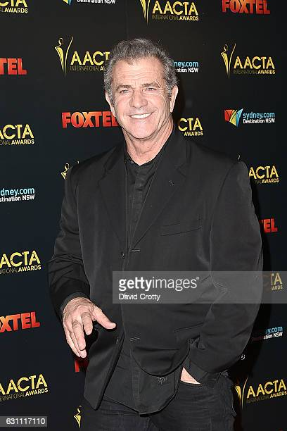 Mel Gibson attends the 6th AACTA International Awards Arrivals at Avalon Hollywood on January 6 2017 in Los Angeles California