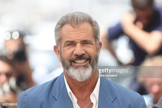 Mel Gibson attends the 'Blood Father' Photocall at the annual 69th Cannes Film Festival at Palais des Festivals on May 21 2016 in Cannes France