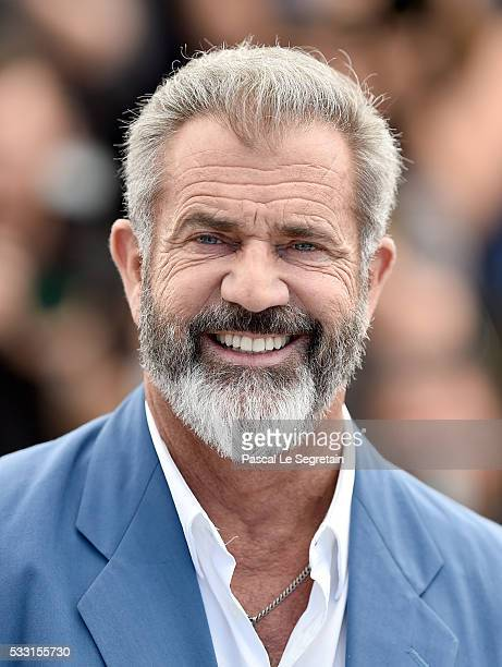 Mel Gibson attends the 'Blood Father' photocall during the 69th annual Cannes Film Festival at Palais des Festivals on May 21 2016 in Cannes France