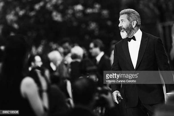 Mel Gibson attends the premiere of 'Hacksaw Ridge' during the 73rd Venice Film Festival at Sala Grande on September 4 2016 in Venice Italy