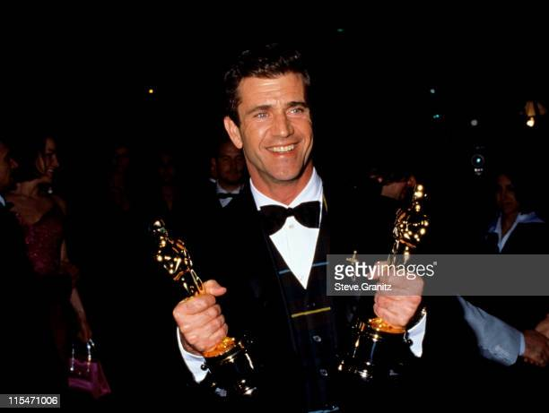 Mel Gibson during 1996 Vanity Fair Oscar Party Arrivals at Morton's Restaurant in West Hollywood California United States