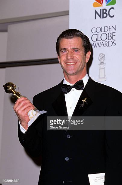 Mel Gibson during 53rd Annual Golden Globe Awards at Beverly Hilton Hotel in Beverly Hills California United States