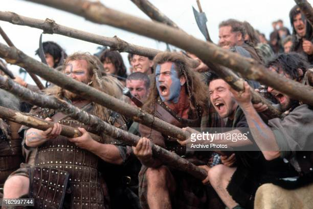 Mel Gibson in a scene from the film 'Braveheart' 1995