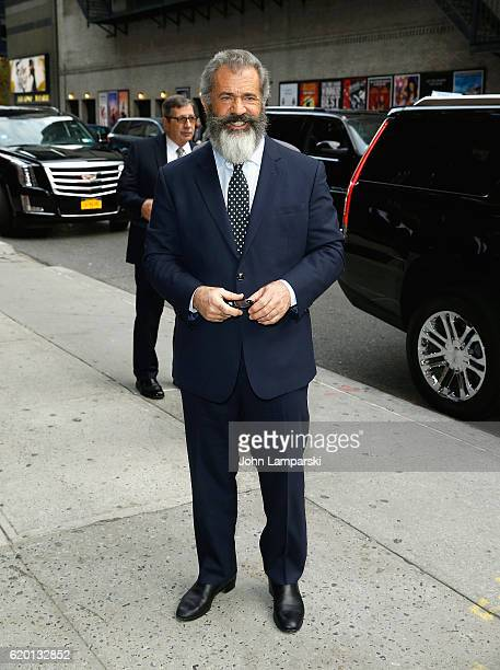 Mel Gibson visits The Late Show With Stephen Colbert at Ed Sullivan Theater on November 1 2016 in New York City
