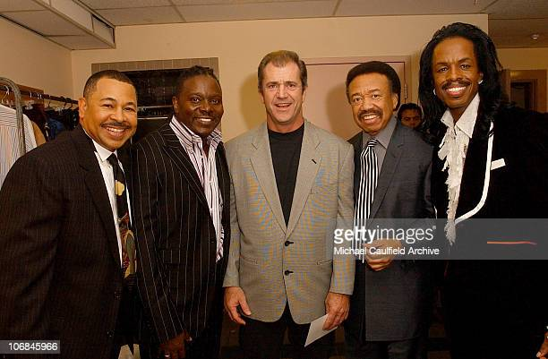 Mel Gibson with Earth Wind and Fire Ralph Johnson Philip Bailey Maurice White and Verdine White