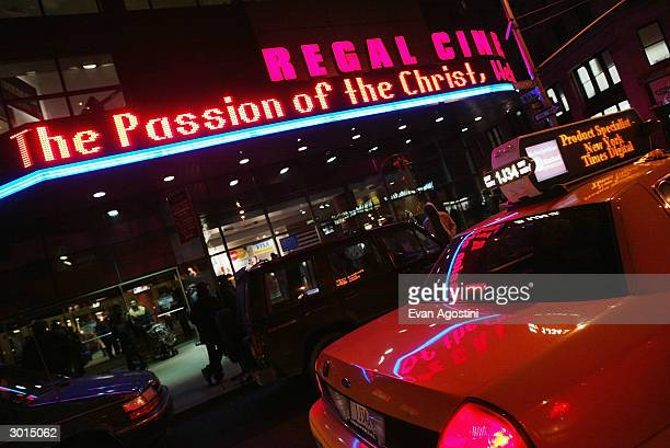 """Mel Gibson's """"The Passion of the Christ"""" opens at the Regal Cinemas 14 February 24, 2004 in New York City."""