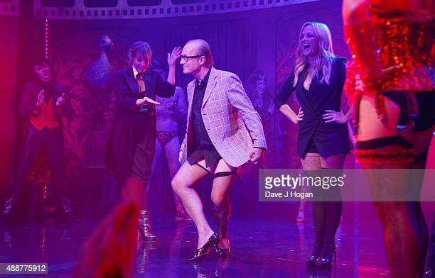Mel Giedroyc Ade Edmondson and Emma Bunton perform during the Gala Charity of Richard O'Brien's Rocky Horror Show in Aide of Amnesty International...