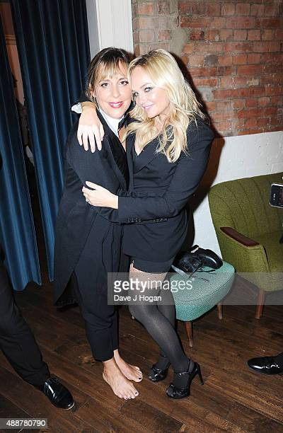 Mel Giedroyc and Emma Bunton attend the 'Rocky Horror Show' Gala Charity Performance After Party at Picturehouse Central on September 17 2015 in...