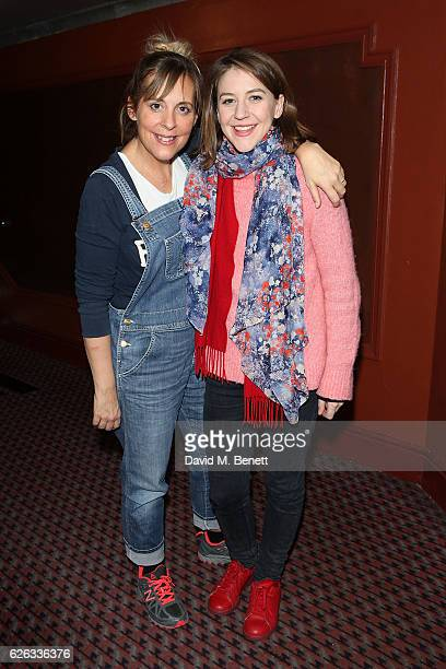 Mel Giedroyc and Gemma Whelan attend an after party celebrating the gala concert performance of 'New Songs 4 New Shows' presented by The Stable at...