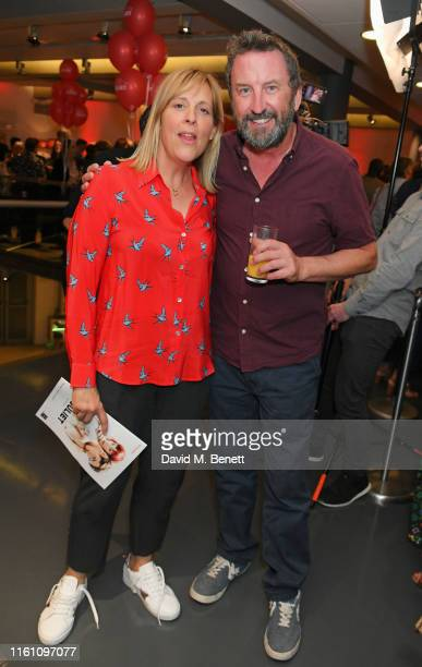 """Mel Giedroyc and Lee Mack attend the press night after party for """"Matthew Bourne's Romeo And Juliet"""" at Sadler's Wells Theatre on August 11, 2019 in..."""