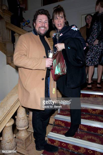 Mel Giedroyc and Michael Ball attends 'The Girls' fundraising gala in support of Bloodwise at Phoenix Theatre on February 20 2017 in London England