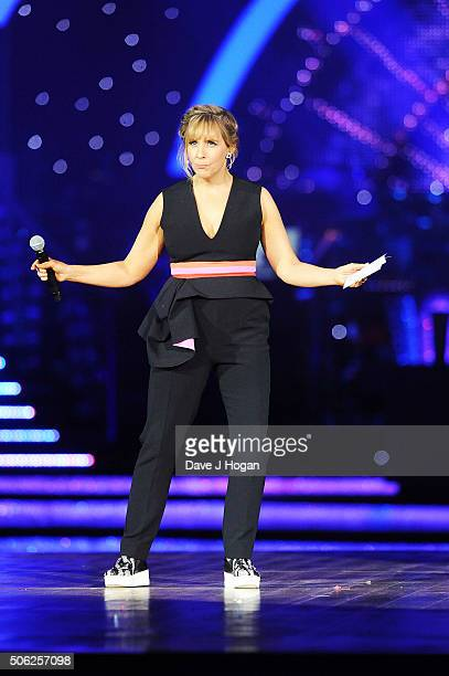 Mel Giedroyc at the Strictly Come Dancing Live Tour rehearsals Strictly Come Dancing Live Tour opens tomorrow 22nd January at the Barclaycard Arena...