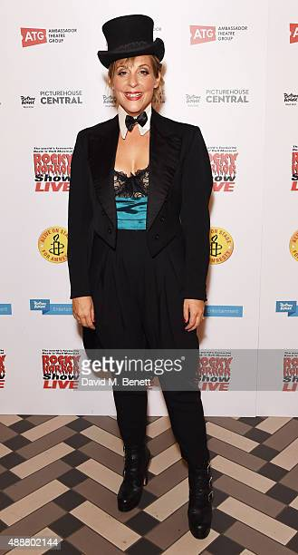 Mel Giedroyc attends the after party following the gala charity performance of 'Rocky Horror Show' at Picturehouse Central on September 17 2015 in...