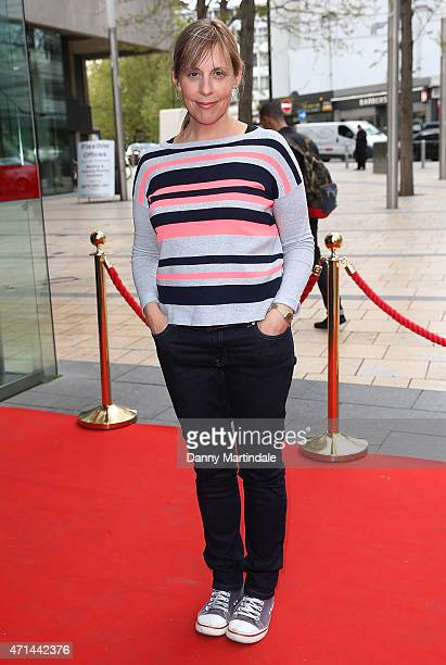 Mel Giedroyc attends the opening night of 'Bugsy Malone' and The Reuben Foundation Wing at The Lyric Hammersmith on April 28 2015 in London England
