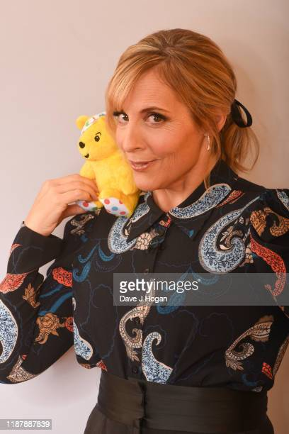 Mel Giedroyc backstage at BBC Children in Need's 2019 Appeal night at Elstree Studios on November 15 2019 in Borehamwood England