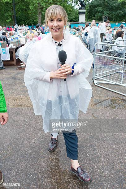 Mel Giedroyc during 'The Patron's Lunch' celebrations for The Queen's 90th birthday at The Mall on June 12 2016 in London England