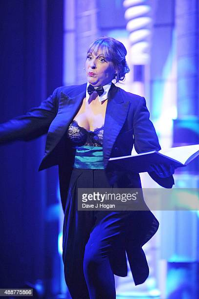 Mel Giedroyc performs during the Gala Charity of Richard O'Brien's Rocky Horror Show in Aide of Amnesty International which was broadcast live to...