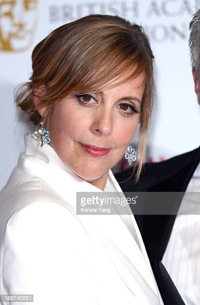 Mel Giedroyc poses in the press room at the Arqiva British Academy Television Awards 2013 at the Royal Festival Hall on May 12 2013 in London England