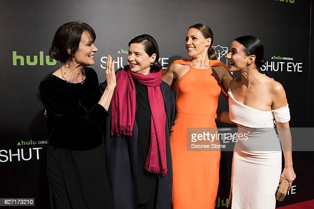 Mel Harris Isabella Rossellini KaDee Strickland and Emmanuelle Chriqui attend the premiere of Hulu's Shut Eye at ArcLight Hollywood on December 1...