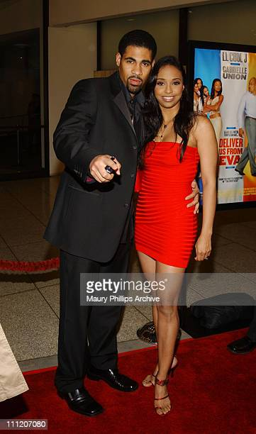 Mel Jackson and Jazsmin Lewis during Deliver Us From Eva Premiere at Cinerama Dome in Los Angeles California United States