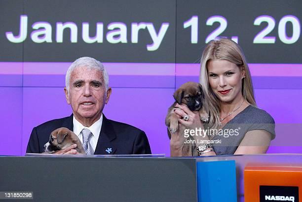 Mel Karmazin and Beth Stern ring the NASDAQ closing bell at NASDAQ on January 12 2011 in New York City