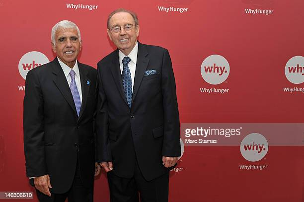 Mel Karmazin and Bill Ayres attend 2012 WhyHunger Chapin Awards at The Lighthouse at Chelsea Piers on June 13 2012 in New York City