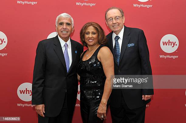Mel Karmazin Darlene Love and Bill Ayres attend 2012 WhyHunger Chapin Awards at The Lighthouse at Chelsea Piers on June 13 2012 in New York City