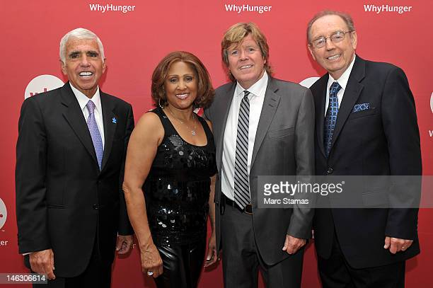 Mel Karmazin Darlene Love Peter Nooneand Bill Ayres attend 2012 WhyHunger Chapin Awards at The Lighthouse at Chelsea Piers on June 13 2012 in New...