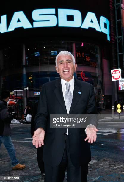 Mel Karmazin rings the NASDAQ closing bell at NASDAQ on January 12 2011 in New York City