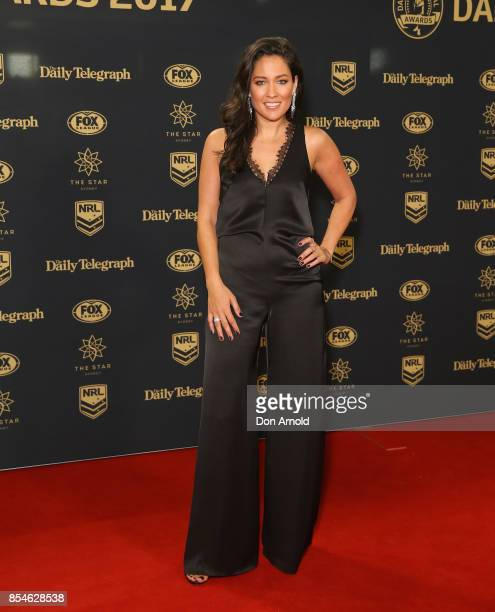Mel McLaughlin arrives ahead of the Dally M Awards at The Star on September 27, 2017 in Sydney, Australia.
