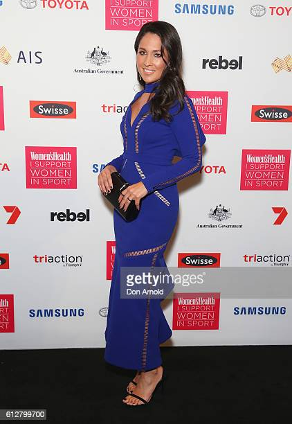 Mel McLaughlin arrives ahead of the Women's Health I Support Women In Sport Awards at Carriageworks on October 5, 2016 in Sydney, Australia.