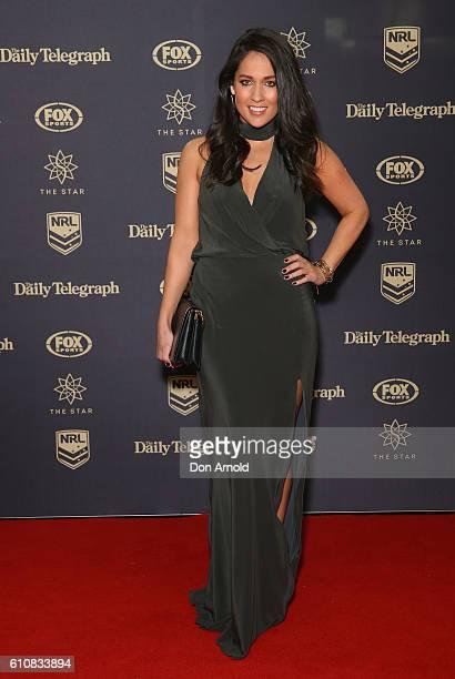 Mel McLaughlin arrives at the 2016 Dally M Awards at Star City on September 28 2016 in Sydney Australia