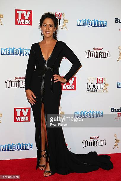 Mel McLaughlin arrives at the 57th Annual Logie Awards at Crown Palladium on May 3, 2015 in Melbourne, Australia.