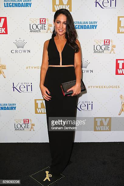 Mel McLaughlin arrives at the 58th Annual Logie Awards at Crown Palladium on May 8 2016 in Melbourne Australia