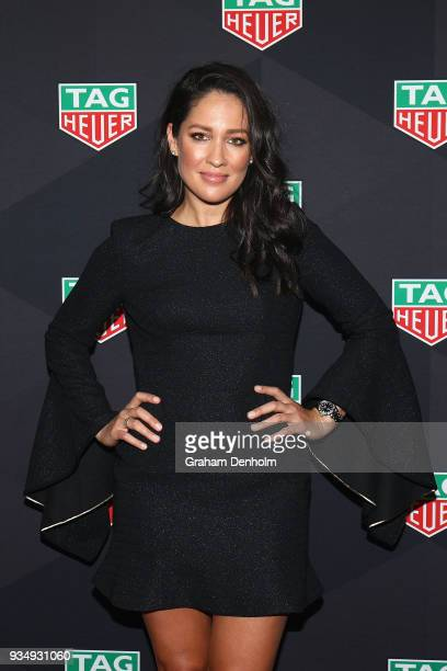 Mel McLaughlin arrives at the TAG Heuer Australia Grand Prix Party at Luminare on March 20, 2018 in Melbourne, Australia.
