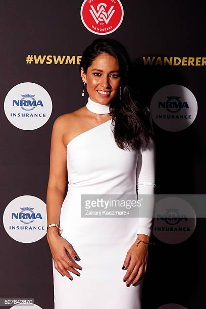 Mel McLaughlin arrives during the 2016 Western Sydney Wanderers Awards at Quodos Bank Arena on May 3, 2016 in Sydney, Australia.