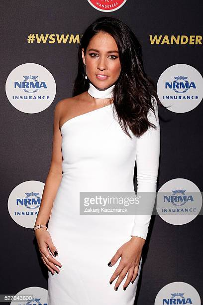 Mel McLaughlin arrives during the 2016 Western Sydney Wanderers Awards at Qudos Bank Arena on May 3, 2016 in Sydney, Australia.